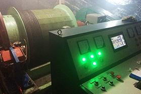 广西南丹县龙洞_JTP-1.2-75KW绞车安装调试现场